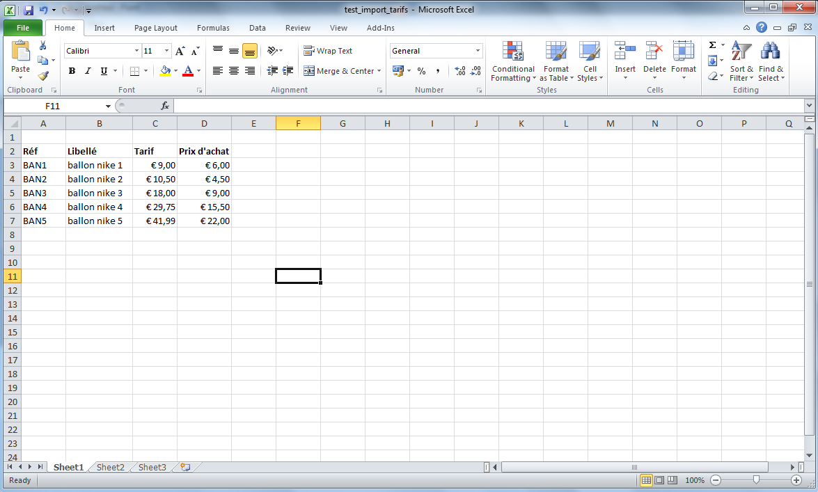 Sage BOB 50: Importer une liste de tarifs Excel - Plug and Go Info